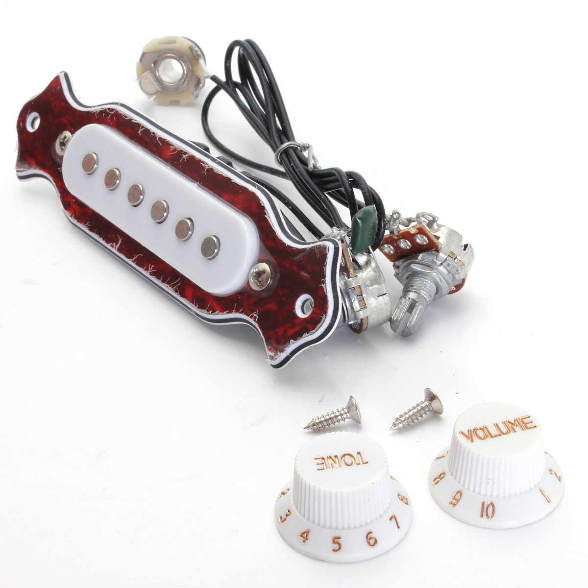 High quality Red+White Copper Single Magnetic Coil Noiseless Acoustic Electric Guitar Pickup Accessories Parts high quality black copper single magnetic coil noiseless acoustic electric guitar pickup accessories parts