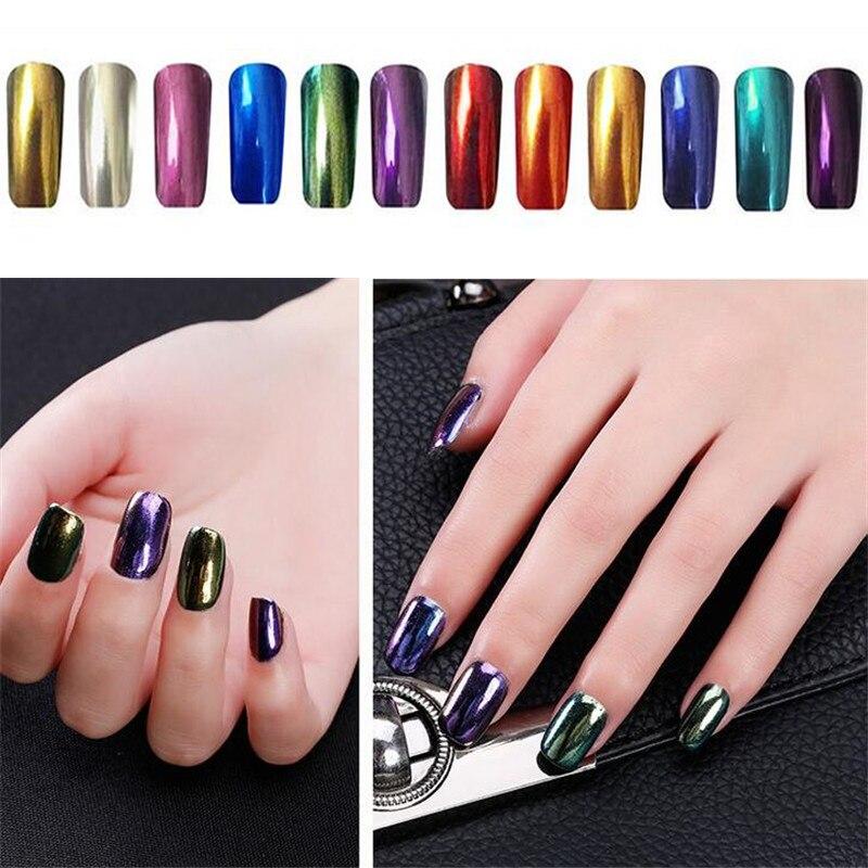 2g Magic Chrome Nail Powder Mirror Effect Nails Pigment Powder Dust Laser Magical Nail Art Tools Mirror Chrome Powder-in Nail Glitter from Beauty & ...