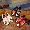 Mickey y minnie zapatos niños niñas sandalias de cristal zapatos de la jalea de melissa sandalias niño mini melissa linda niña sandalias 13-17 cm