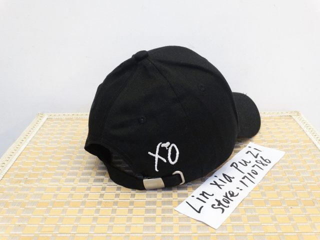 c04137e251d Online Shop XO Custom black Unstructured Dad Hat Cap The Weeknd Abel ...