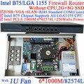 1U сетевой маршрутизатор оборудования с 6 1000 М 82574L Gigabit NIC 2 intel i350 SFP порта волокна 2 Г RAM 8 Г SSD
