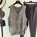 Small Fresh Korean Knitting Vest V-Neck Thin Spring Summer Wear Loose Knitted Tank Tops For Woman