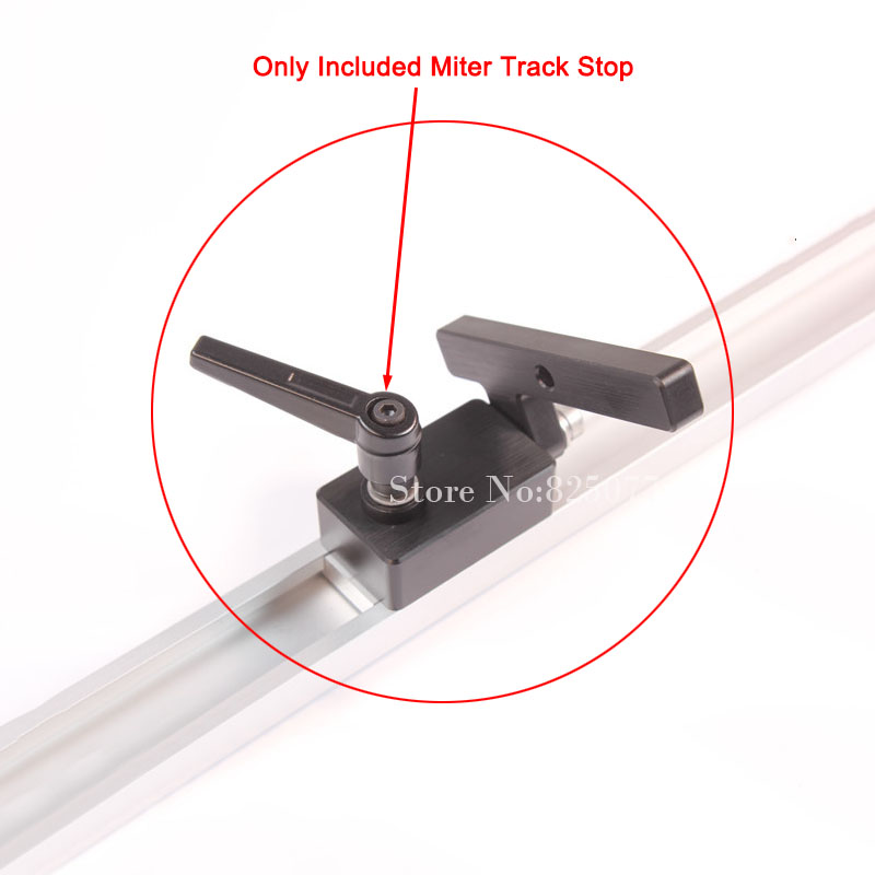 2PCS Woodworking DIY Tool Miter Track Stop For T Track T Slot JF1103
