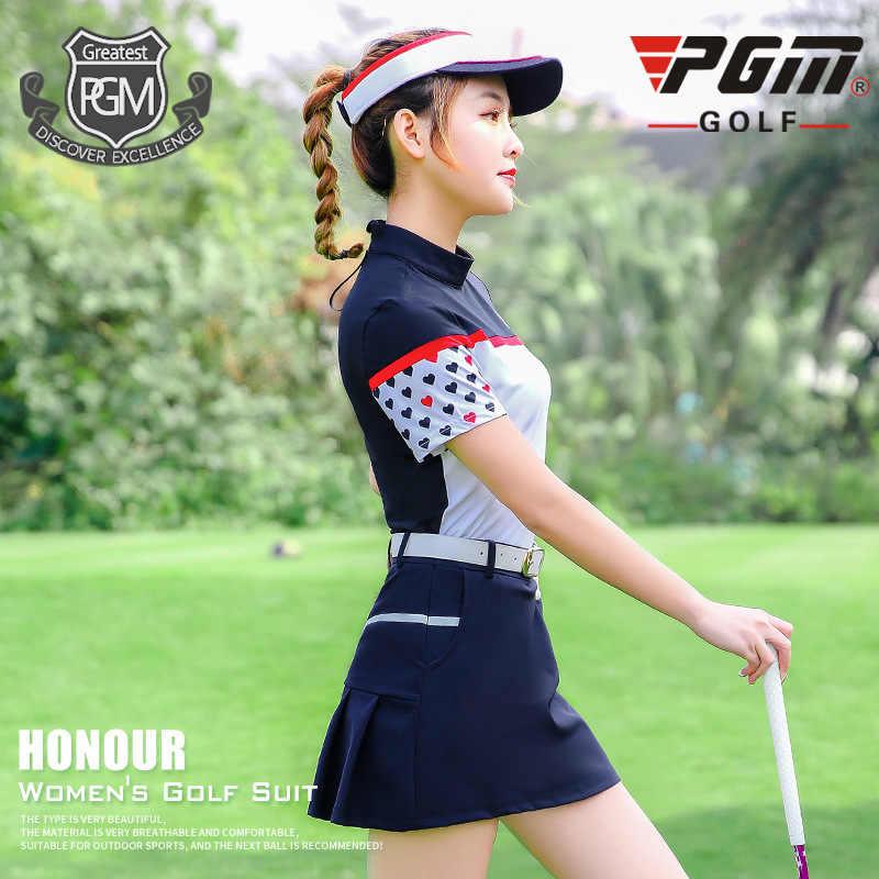 PGM платье для гольфа, женская футболка с коротким рукавом, весна-лето, с коротким рукавом, женское платье + юбка, спортивный костюм