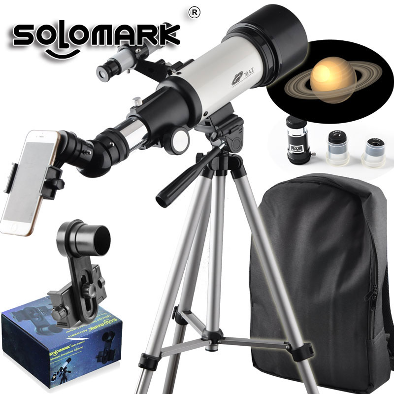 AQUILA 70mm Apeture 400mm Az Mount Telescope-Good Partner To View Moon Planet-Travel Scope With Backpack Good Telescope For Kids