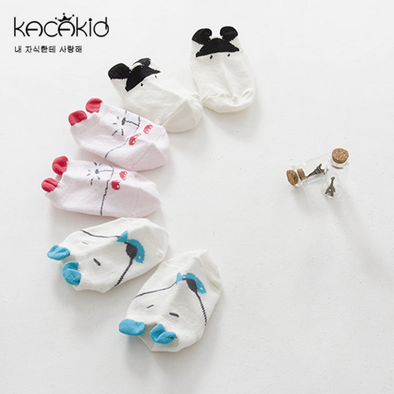 Ins Hot Newborn Cotton Non-Slip Baby Socks 100% Cotton Autum Winter Infant Cartoon Socks With High Quality
