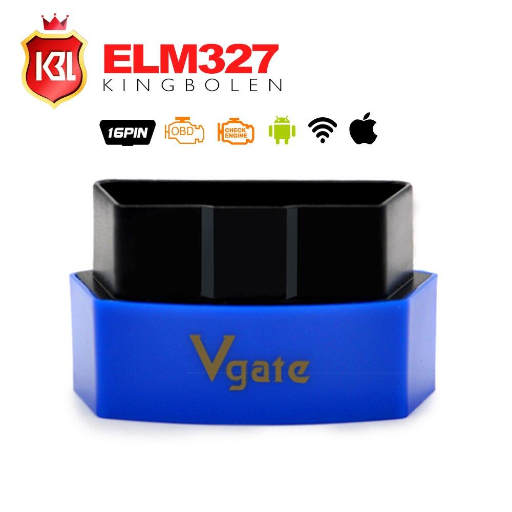 Prix pour Nouvelle Arrivée Vgate iCar3 Wifi Bluetooth OBDII OBD2 ELM327 iCar 3 Bluetooth Interface De Diagnostic Pour Android/IOS/PC livraison Gratuite