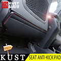 Kust 3 pcs pu de couro de volta assento anti-kick pad proteção capa para Hyundai Tucson Para 2015 Apoio de Braço Do Assento de Carro Capa Para Tucson 2016