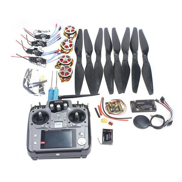 F05422-K  Foldable Rack RC Quadcopter Kit APM2.8 Flight Control Board+GPS+750KV Motor+14x5.5 Propeller+30A ESC+AT10 TX f02015 f 6 axis foldable rack rc quadcopter kit with kk v2 3 circuit board 1000kv brushless motor 10x4 7 propeller 30a esc