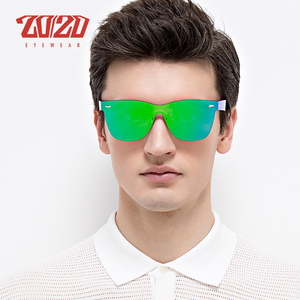Image 2 - 20/20 Brand Vintage Style Sunglasses Men Flat Lens Rimless Square Frame Women Sun Glasses Oculos Gafas PC1601