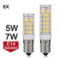 Мини E14 СВЕТОДИОДНАЯ Лампа 5 Вт 7 Вт Люстра Свет 220 В SMD2835 Лампада СВЕТОДИОДНАЯ Лампа Кукурузы Свет Кулон Холодильник Refrigertor Лампы 6 шт./лот