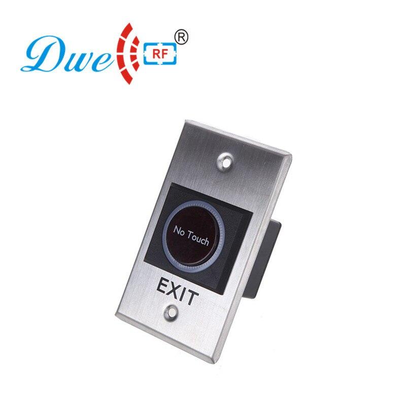 DWE CC RF access control kits infrared sensor NO/NC/COM exit button hand shape no touch button dwe cc rf access control hand shape no touch button infrared no nc com switch with 12v