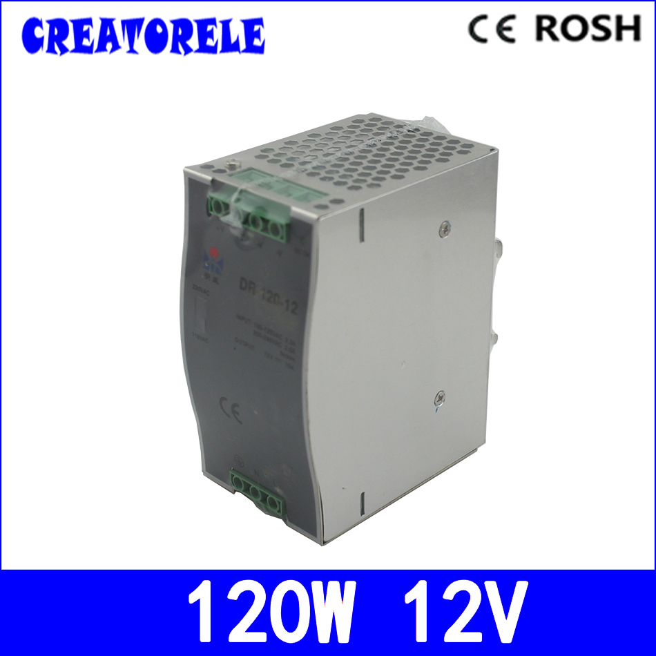 ac to dc din 12V 10A DR-120-12 SingIe Output Din RaiI Transformer driver Ied driver source switching power suppIy voIt ac to dc woderfui universai 100w singie output s 100 mode manufturer s 100 27 ied driver source switching power suppiy voit