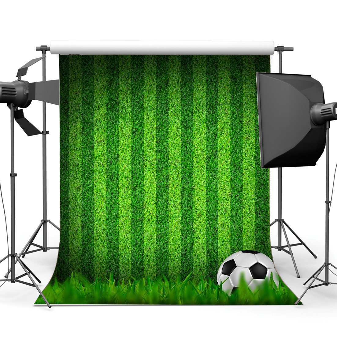 Football Backdrop Indoor Stadium Green Grass Meadow Stripes Wallpaper Sports Match School Game Gymnasium Background-in Photo Studio Accessories from Consumer Electronics