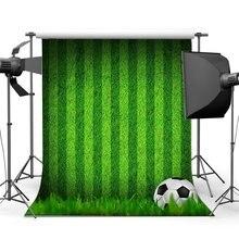 Voetbal Achtergrond Indoor Stadion Groen Gras Weide Strepen Behang Sport Match School Spel Gymnasium Achtergrond
