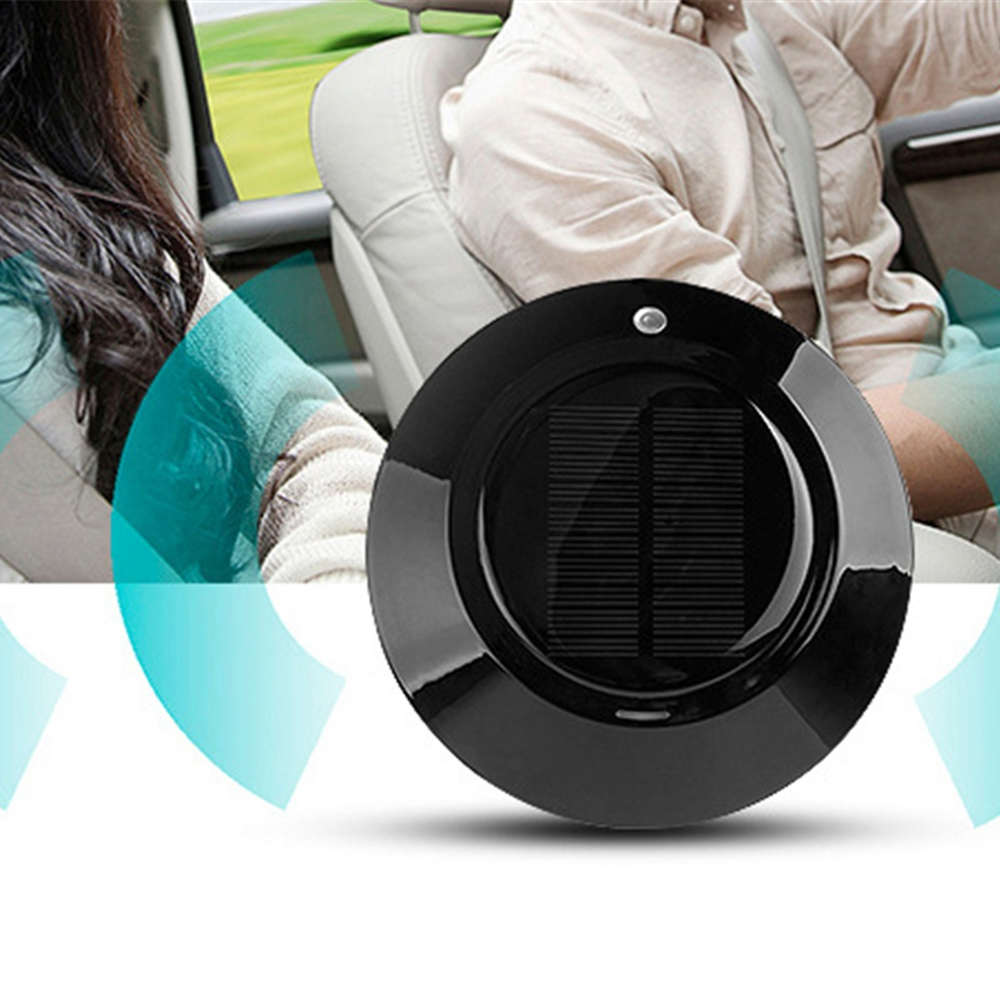 Solar Energy Car Use Air Cleaner Anion PM2.5 Air Purifier UFO Shape Air Freshener Air cleaner car anion air purifier intelligent air purifier oxygen bar car air freshener cigarette smoke absorber with adapter