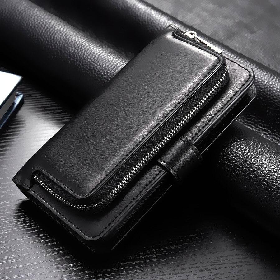 Роскошные 2 in1 мобильного телефона на молнии кошелек Чехол кожаный чехол для Samsung Galaxy S8 плюс кошелек Съемная чехол Коке сумочка