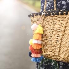 Bohemian Bag Accessories Creative Handmade Tassel Pendant European and American Spring And Summer Fashion Trend keychain