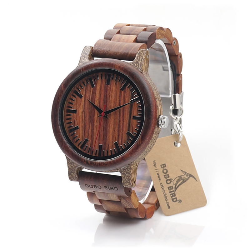 BOBO BIRD Marca M17 All Wooden Watch Uomo Casual Luxury Wood Strap Orologi da polso Regali Watch reloj masculino
