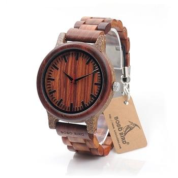 цены BOBO BIRD Brand M17 All Wooden Watch Men Casual Luxury Wood Strap Wristwatches Gifts Watch reloj masculino