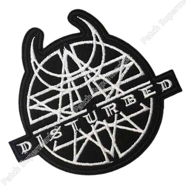 Disturbed Logo Muziek Rock Band Logo Geborduurde Nieuw Ijzer Op En