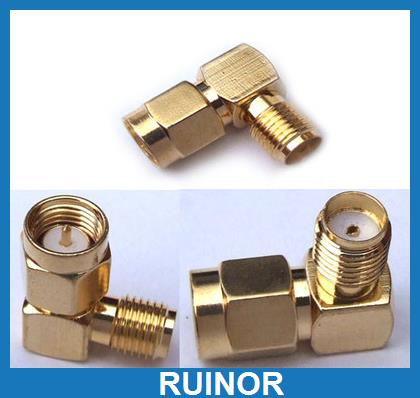 20pc SMA Male Plug to SMA Female Jack Right Angle 90 Degree RF Connector Adapter цена