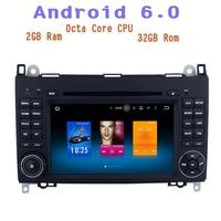 4g ram Android 6.0 Octa Core Auto dvd gps voor Mercedes-Benz viano vito sprinter Een klasse w169 met 4G wifi usb Stereo Auto
