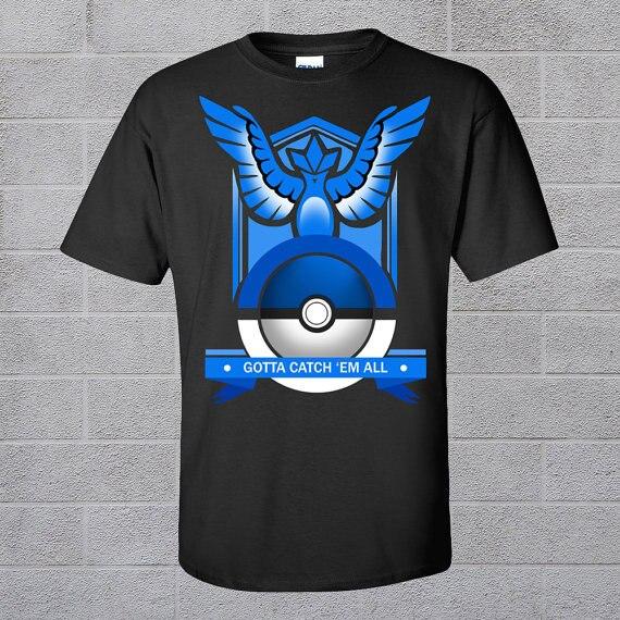 2016 Summer Pokemon Go 100% Cotton Mens T-shirt Short Sleeve O neck Print Funny  Plus Size