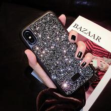 Модные Простые Стразы для ногтей чехол телефона чехол для iPhone X Xs Max 10 8 7 6 6s плюс роскошный мягкий силиконовый Coque Fundas