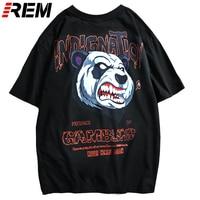 REM Tiger Printed Funny T Shirts Men Women Funny Harajuku Simple Designer T shirts Couple Tees Skateboarding Sports Tops