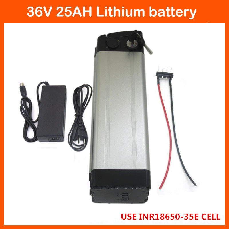 free customs fee 1000W 36V 25AH silver fish battery 36V 24.5AH li ion battery Use samsung 3500mah cells 30A BMS Bottom discharge|battery 36v|scooter battery|30a bms - title=
