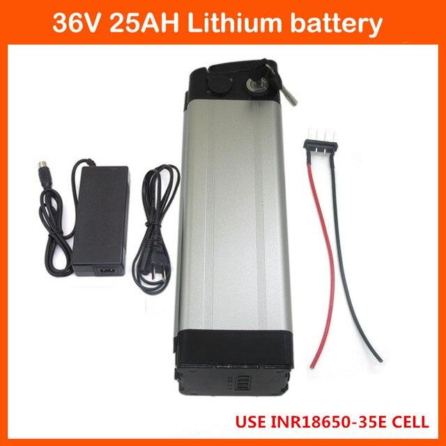 free customs fee 1000W 36V 25AH silver fish battery 36V 24.5AH li-ion battery Use samsung 3500mah cells 30A BMS Bottom discharge