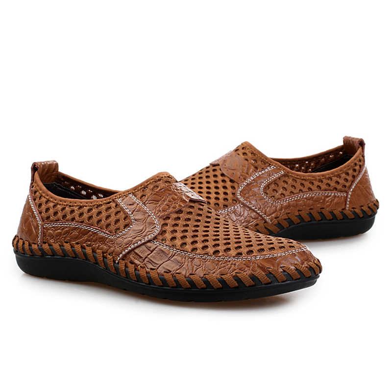 2019 Casual Schoenen Mannen Zomer Ademend Mesh Schoenen Mode Zachte Mannelijke Outdoor Mocassins Comfortabele Tennis Loafers