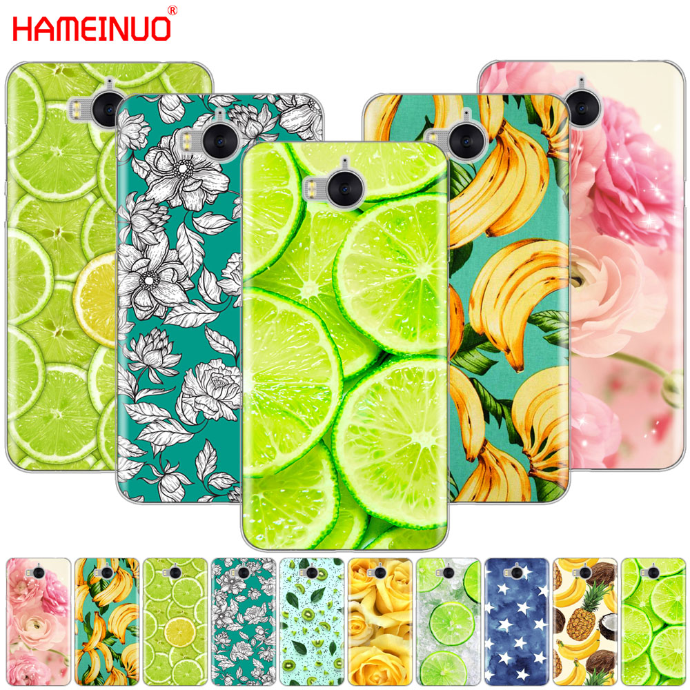 Hameinuo Lemon фруктов Цветок сотовый телефон чехол для <font><b>Huawei</b></font> <font><b>Honor</b></font> 3C 4A 4x 4c 5&#215;6 7 8 Y6 Y5 2 II Y560 Y7 2017
