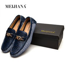 MEIJIANA 2018 Genuine Leather Driving Male Loafers Shoes For Men Brand Casual Boat Men Shoes