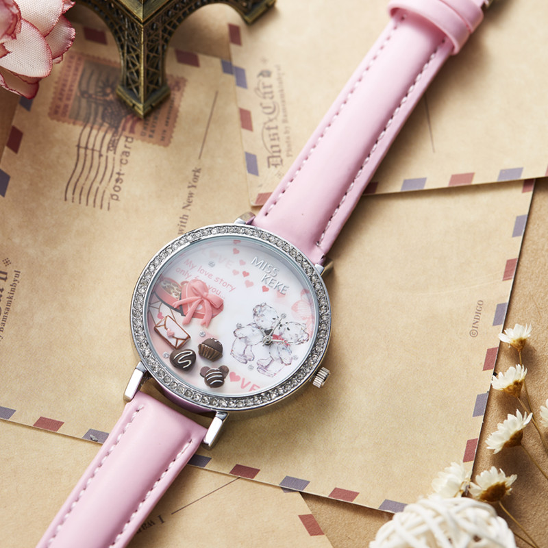 Relojes Mujer Miss Keke 3d Clay Leuke Mini Wereld Strass Horloges - Dameshorloges - Foto 4