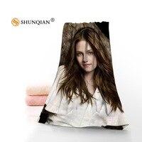 Microfiber Towels Custom Kristen Stewart Face Towel/Bath Towel Size 35x75cm, 70x140cm for family travel
