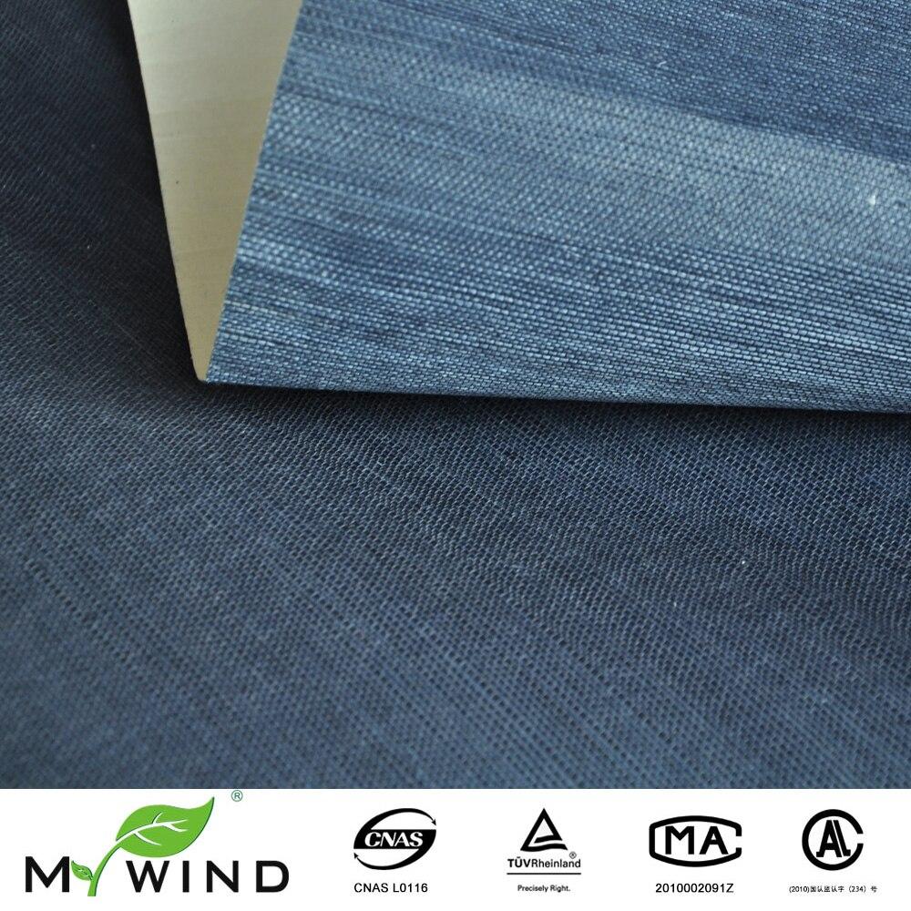 Papier Peint Deco Marine €49.66 |vrai papier peint bleu foncé papier peint bleu marine texture  naturelle sisal papier peint pour la décoration de la maison mur de