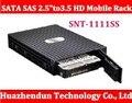 """SNT-1111SS Serial SATA SAS 2.5 """"para 3.5'' HD Móvel Rack se encaixa 3.5 """"HDD Conversor de SATA & caixa SAS HDD de Alta Qualidade"""
