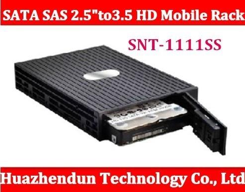"SNT-1111SS Serial SATA SAS 2.5"" to 3.5'' HD Mobile Rack fits 3.5"" HDD Convertor for SATA & SAS HDD  High Quality box"