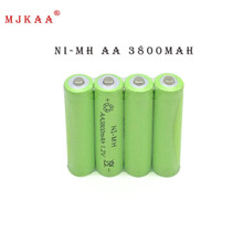 12pc a lot Ni-MH 3800mAh AA Batteries 1.2V AA Rechargeable Battery NI-MH battery for camera,toys