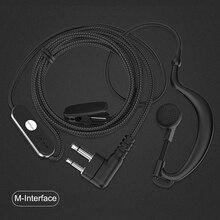 Auricular Walkie Talkie, auricular con gancho para la oreja, auricular de Radio bidireccional tipo M para Motorola HYT Xuhui FEIDAXIN FDC TAIT