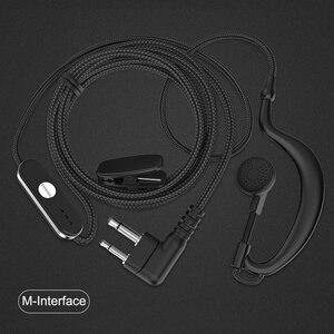 Image 1 - Гарнитура Walkie Talkie, наушники с ушным крючком, наушники для двухсторонней радиосвязи, гарнитура типа M, наушники для Motorola HYT Xuhui FEIDAXIN FDC вата