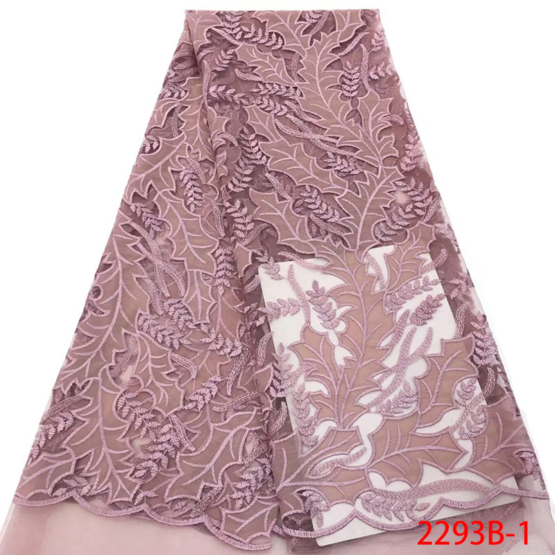 Hot Sale Guipure French Lace Fabrics African Embroidery Tulle Lace Fabric For Dress Nigerian Tulle Lace