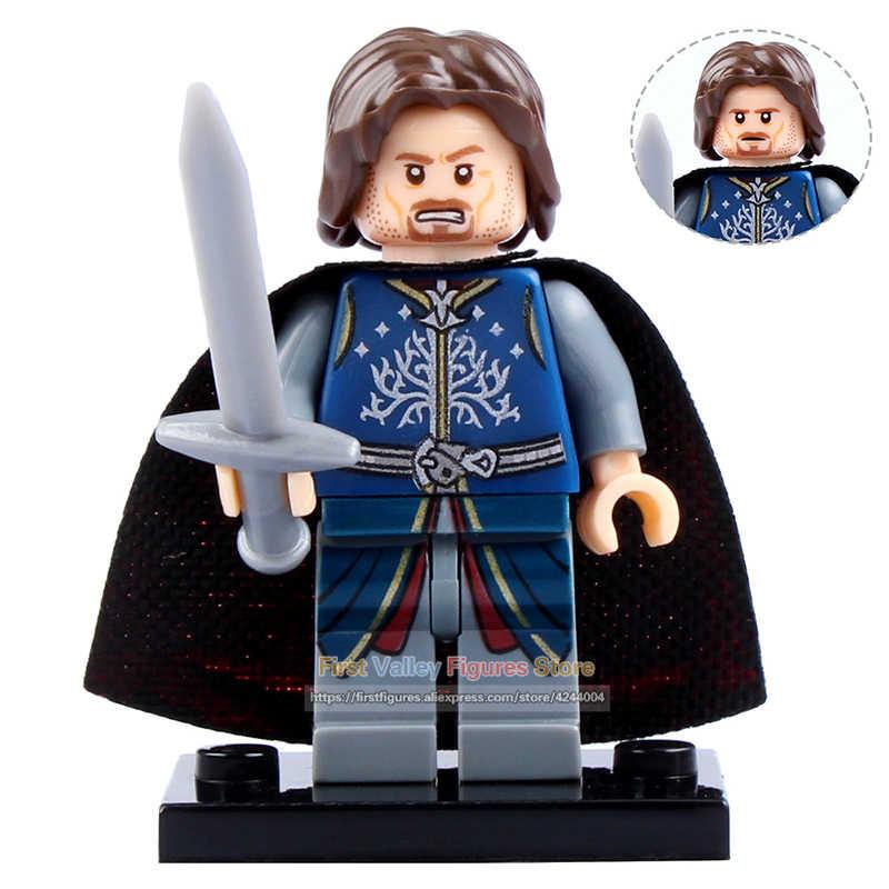 DR. TONG el Señor de los anillos figura de acción bloques de construcción caballeros medievales Gladiatus cruzado ladrillos juguetes de regalo para niños