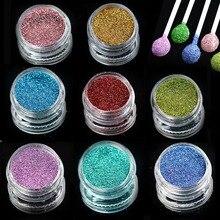 1 бутылка лазерного сверкающего пигмента для нейл-арта, блестящая пудра, пылевые наконечники для тела, для маникюра, салона, 3d украшения для ногтей, L01-16-1