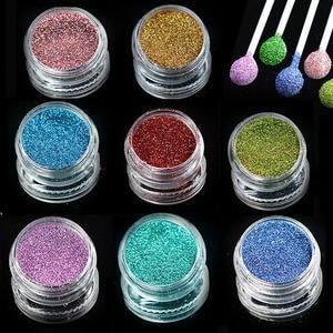 1 bottle Laser Shinning Pigment Nail Art Glitter Powder Dust Tips for Body Craft Polish Salon 3d Nail Art Decorations L01-16-1