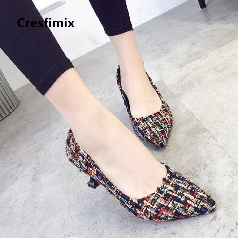 Cresfimix Tacones Altos Women Fashion Sweet Comfortable Spring & Summer Spike High Heel Shoes Lady Cute High Heel Shoes A2958