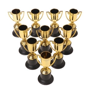 10pcs Golden Cups Trophy Sports Winner Educational Props Kids Reward Prizes Toys