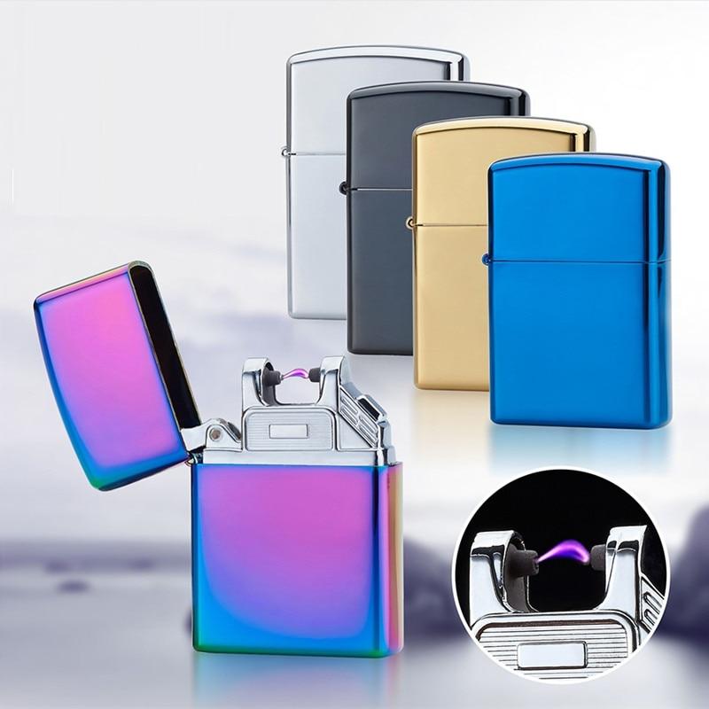 Portable USB Electronic Lighter Rechargeable Windproof Plasma Arc Lighter Jet Torch Lighter Flameless Encendedor Gadget for men